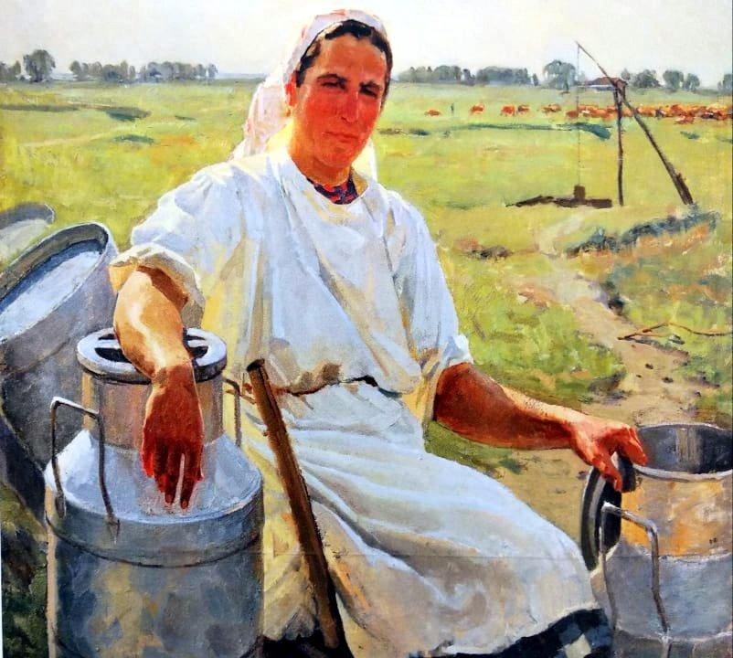 Портрет доярки Євдокії Кошової. 1949