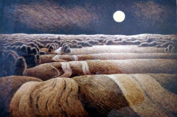 Леонід Гусак. Місячна ніч. 1983. Туш, папір