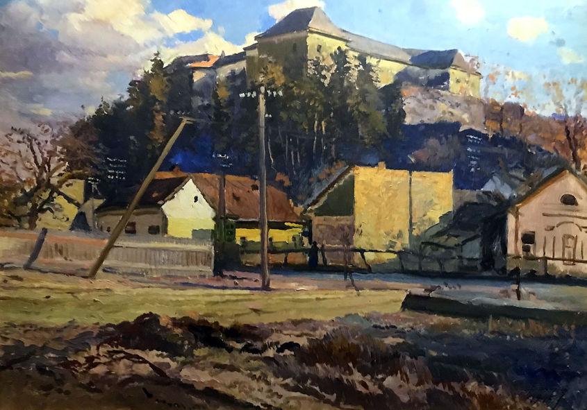 Йосип Бокшай. Ужгородський замок. 1945. П.,о.